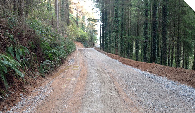 New access road constructed in South Devon